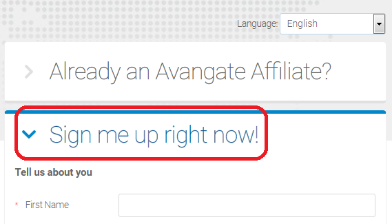 Sign Up to Become an Avangate Affiliate