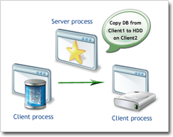 Roles in client-server architecture