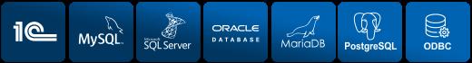 Плагины баз данных, которые поддерживаются в Handy Backup