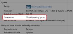 Windows 32/64 bit operating system