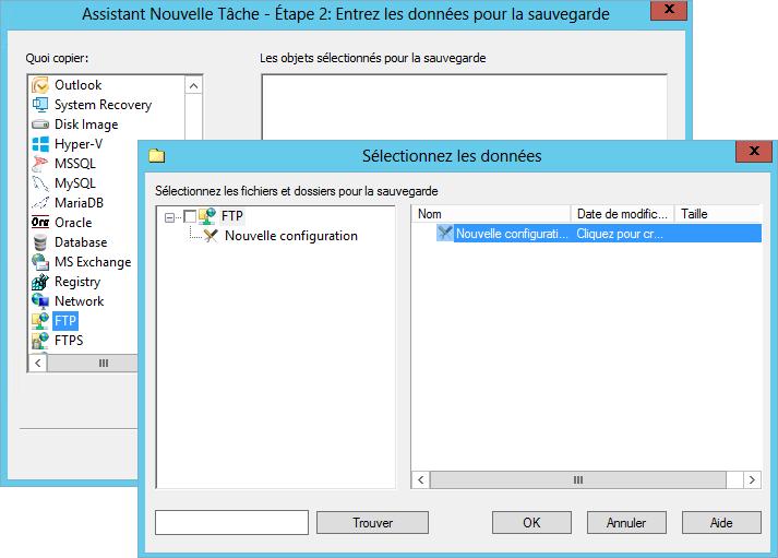 Sauvegarde sur FTP avec Handy Backup