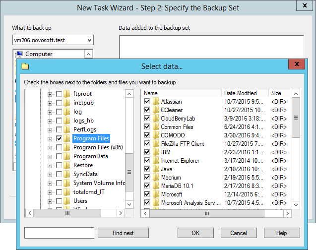 Select Files on a Remote Machine