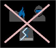 При хранении данных на облачном сервисе никакие повреждения (пожар, поломка, кража) не отразятся на информации