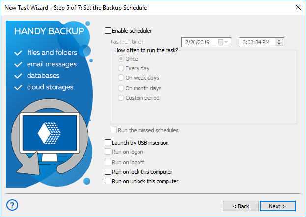 Step 5 - Schedule Setup for Synchronization in Advanced Mode