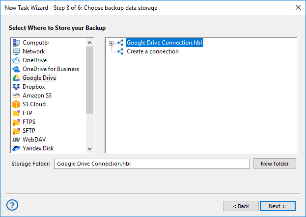 Backup FTP to Google Drive