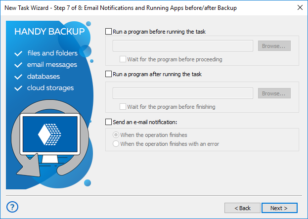Run Other Programs Before or After Open File Backup
