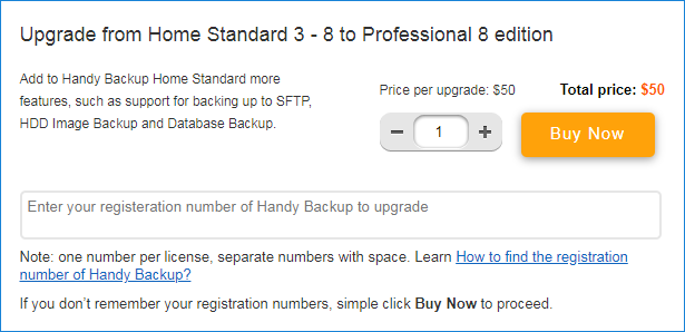 Ordering Upgrade from Standard to Professional edition