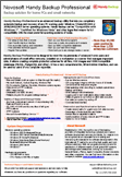Handy Backup Professional Datasheet Preview