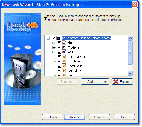 Selecting Lotus Notes