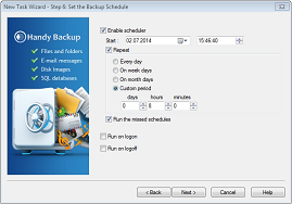 Set up Backup Schedule