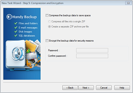 Choose whether you want to compress your files or encrypt them