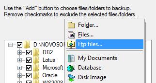 Selecting Folder Backup