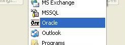 Selecting Oracle Backup