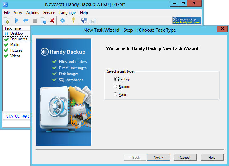 Handy Backup Server Network 7.15.0