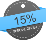 15% - Special discounts are offered to government, academic, non-profit entities